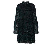Kleid petrol / schwarz