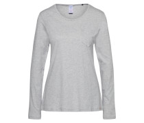 'Sleep & Dream' Shirt Langarm grau