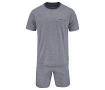 Pyjama kurz Shorty grau
