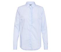 Bluse 'Tilda Frill' hellblau / weiß
