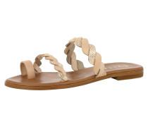 Sandale 'Olimpia' nude / silber