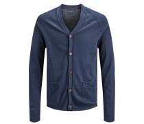 Strick-Cardigan blau