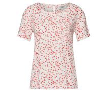 Shirt 'Ditch' rot / weiß