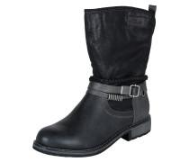 Boots mit Flechtriemen schwarz