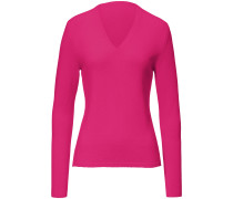 V-Pullover aus Kaschmir pink