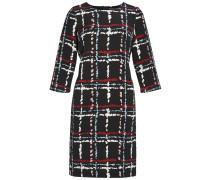 Kleid mit Print aus strukturierter Ware