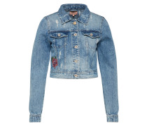 Cropped Jeansjacke 'chris' blue denim