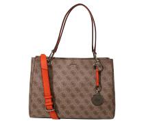 Handtasche 'jacqui' braun / dunkelrot