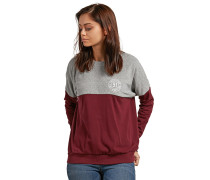 Sweatshirt graumeliert / burgunder