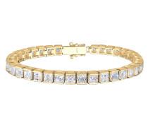 Kristall Tennisarmband gold