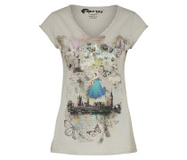 T-Shirt 'noemie' graumeliert