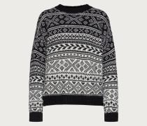 Pullover 'Evelyn' schwarz / weiß