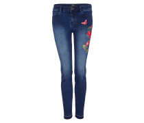 Sienna Slim: Embroidery-Jeans