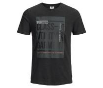 T-Shirt dunkelgrau / rot / weiß