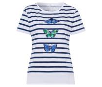 Shirt 'Cira' blau / mischfarben / weiß