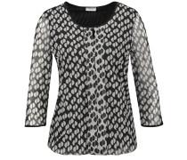 Blusenshirt grau / schwarz