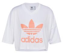 T-Shirt 'trefoil' koralle / weiß