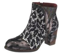 Chelsea Boots schwarz / silber