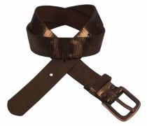 Ledergürtel braun / bronze