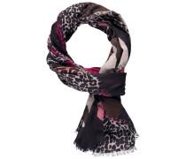 Schal grau / rosa / schwarz