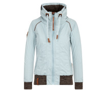 Jacket 'Du Muss Straff Sein' opal / braun