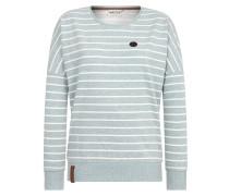 Sweatshirt pastellblau / weiß