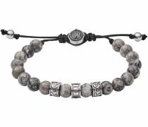 Edelstahlarmband 'beads Dx1103040' grau