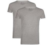 2er-Pack T-Shirts grau