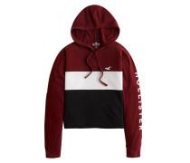 Sweatshirt schwarz / burgunder / weiß