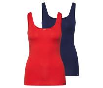 Unterhemd 'Advantage Cotton' blau / rot