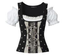 Shirt 'Siena' schwarz / naturweiß