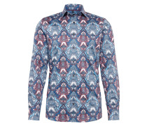 Hemd 'Level 5 City Print floral' navy / rot