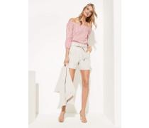 Bluse rosa / weiß