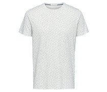 T-Shirt hellgrau / perlweiß