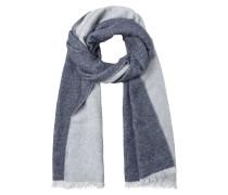 Schal blue denim / grau
