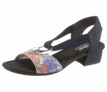 Sandalette navy / mischfarben