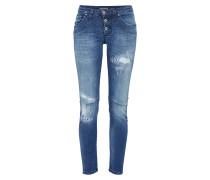 Jeans im used-look blue denim