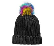 Mütze hellblau / gelb / pink / schwarz