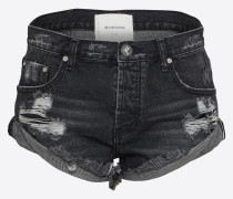 Jeansshort 'Bandits' black denim