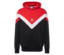 Sweatshirt 'Iconic' rot / schwarz / weiß