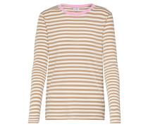 Shirt 'Lindsay Contrast' weiß / beige