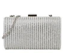 Clutch 'sparkle Pearl' silber / weiß