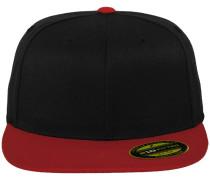 Cap 'Premium 210 Fitted' rot / schwarz