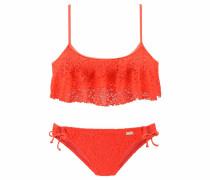 Bustier-Bikini neonorange