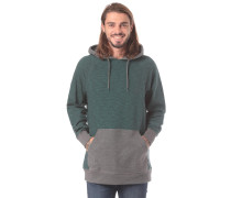 'Balance' Kapuzenpullover grau / smaragd