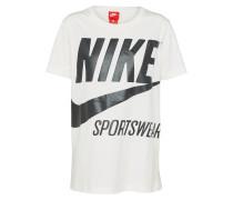T-Shirt 'brs' schwarz / offwhite