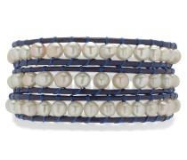 Armband navy / perlweiß