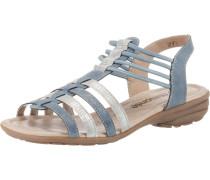 Sandalen rauchblau / silber