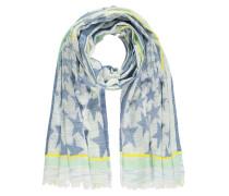 Schal beige / blau / gelb / mint