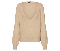 Pullover 'core V RIB D-Strick' beige